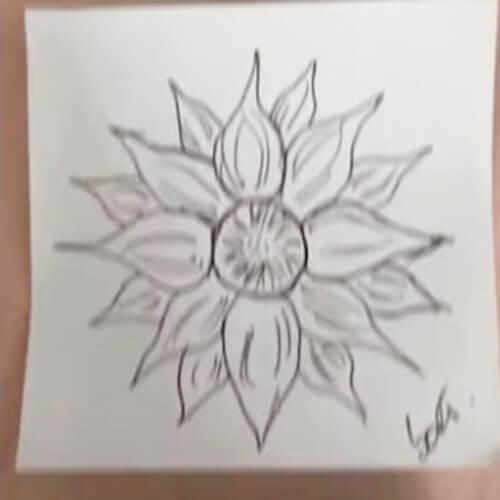 цветочный дизайн татуировки