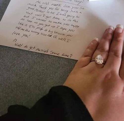 записка с предложением выйти замуж