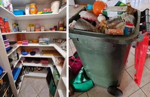 мусорный контейнер в доме