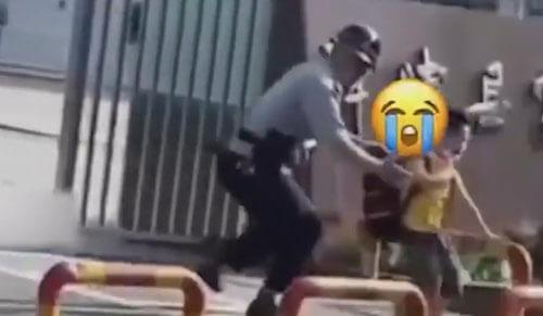 охранник отловил школьника