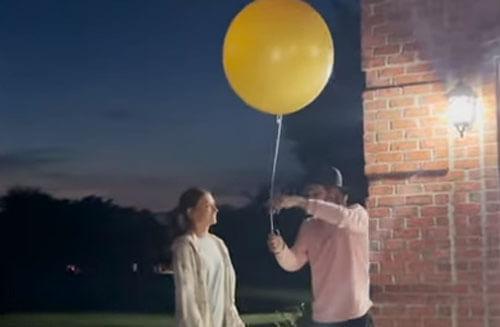 воздушный шар удрал с вечеринки