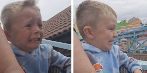 мальчик не оценил аттракцион
