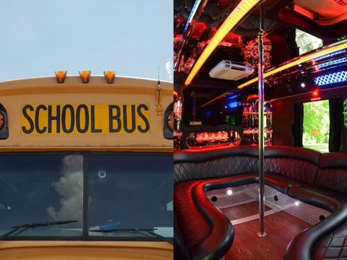 автобус с шестом для стриптиза