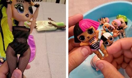 куклы одеты как стриптизёрши