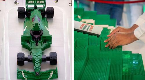 гоночная машина из конструктора