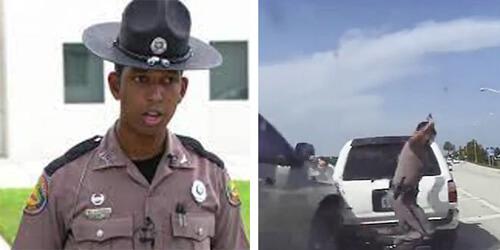 отличная реакция полицейского